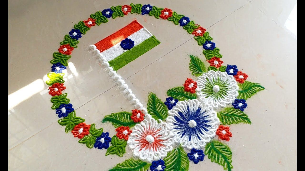 Rangoli designs for Independence day Rangoli designs for Independence day new photo