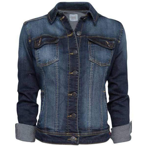 62a9c790a8f3 Prix Mango Veste en jean bleu foncé - Manteau femme   offres à... via  Polyvore