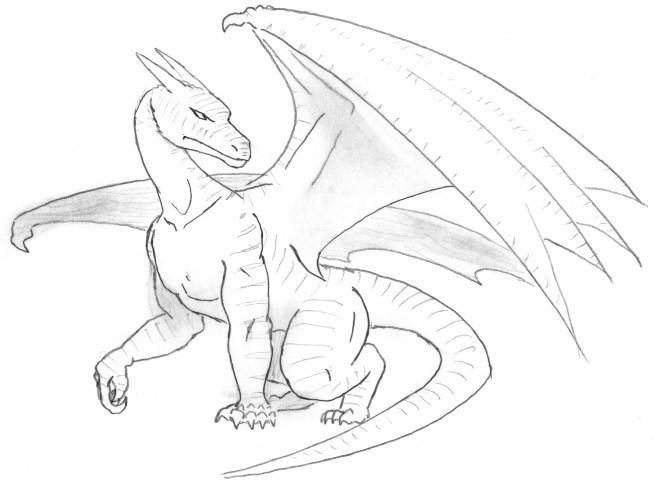 how to draw a dragon full body step by step