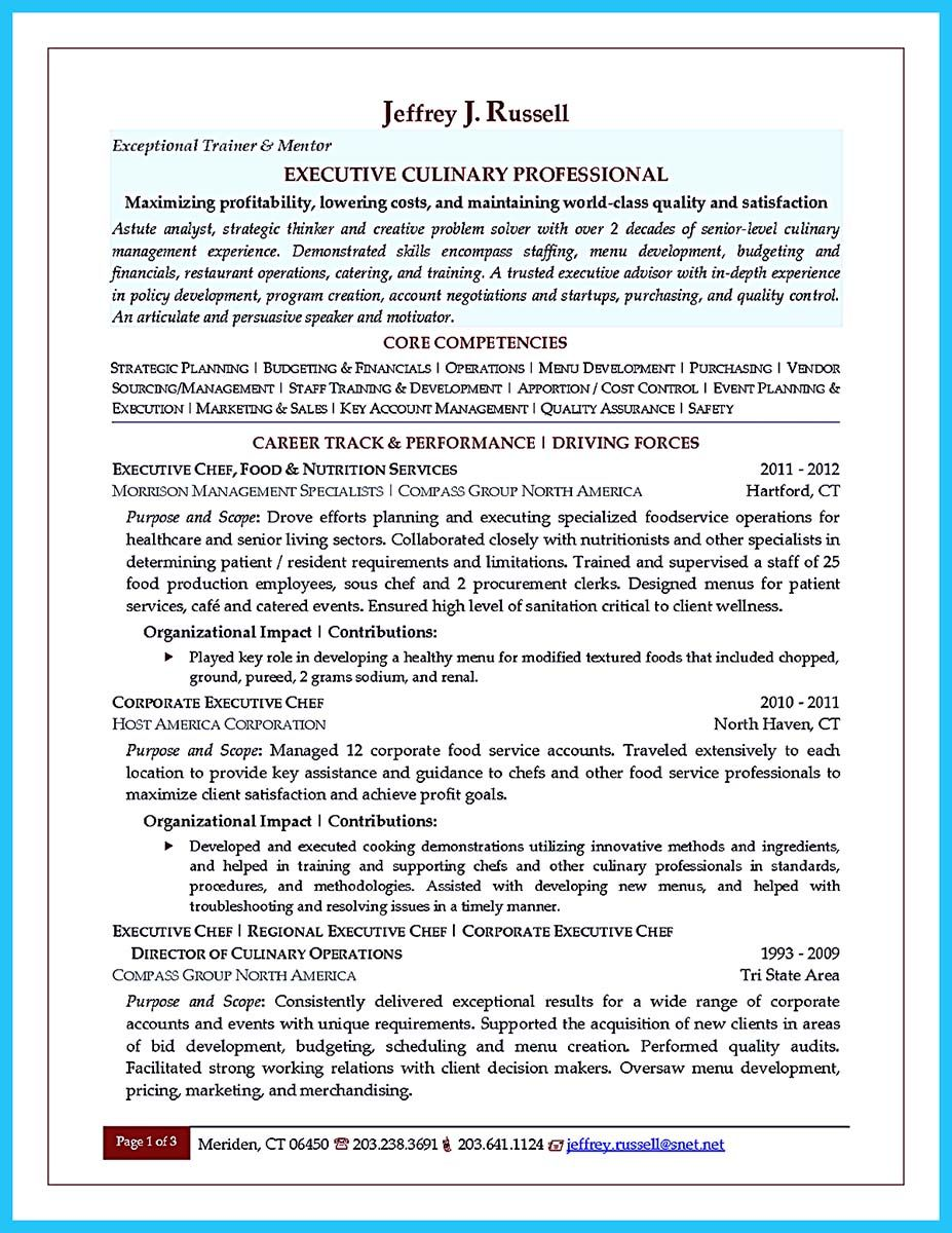 Nice Excellent Culinary Resume Samples To Help You Approved Check More At Http Snefci Org Excellent Culinary Resume Samples Help Appr Proposal Surat Tulisan