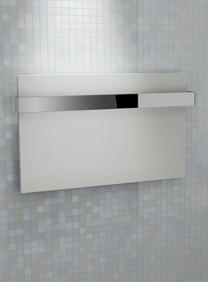 Kudox Designer Towel Rail Ikon 708mm x 417mm White & Chrome