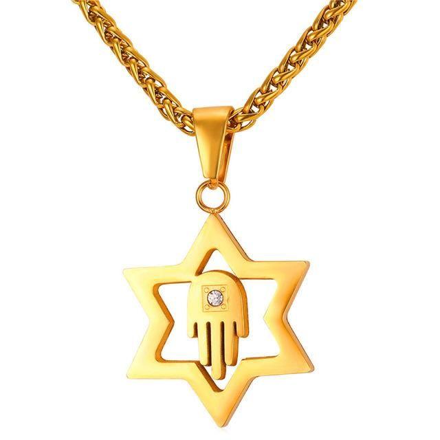 Star Of David Pendant Jewish Magen Star Of David Necklace Men//women Bat Mitzvah Gift Israel
