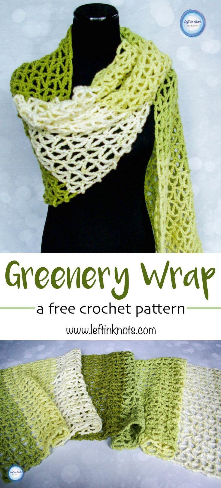 Greenery wrap modern crochet patterns modern crochet and spring greenery wrap modern crochet patternsknit bankloansurffo Image collections