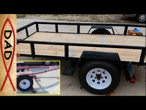 5x10 Utility Trailer Build Part 1 Of 4 Youtube Trailer Build Utility Trailer Trailer Plans
