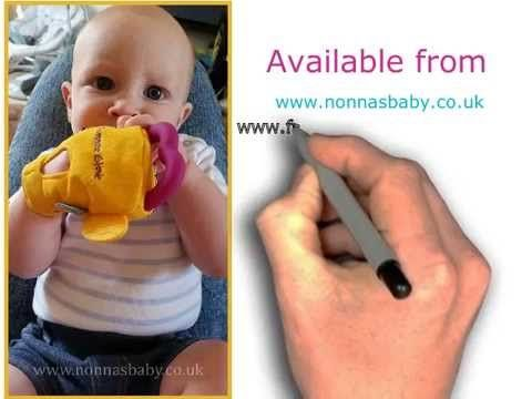 Brilliant Gummee Glove Teething Mitten.  Watch the Video or Click Here https://nonnasbaby.co.uk/gummee-glove/