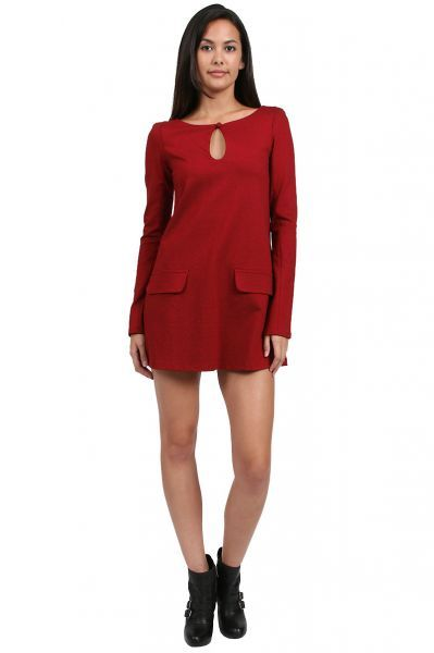 AGAIN Friday Dress in Burgundy  available at #Loehmanns