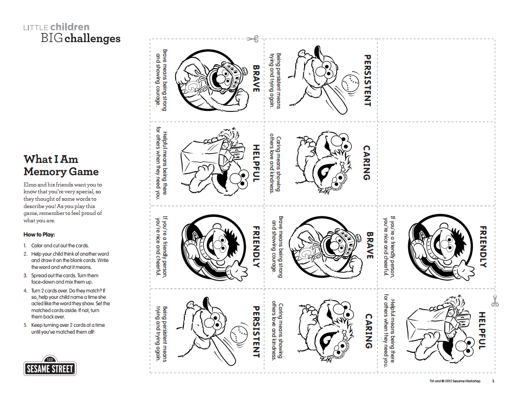 You Can Use This What I Am Memory Game Printable