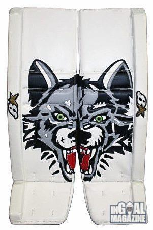 Brian's custom goalie pads for Chicago Wolves #goalies | Custom