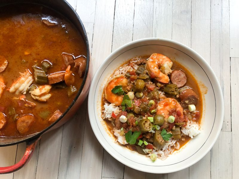 A Star Chef S Gumbo Breaks A Big Rule Of New Orleans Cooking Gumbo Recipe Cooking Gumbo