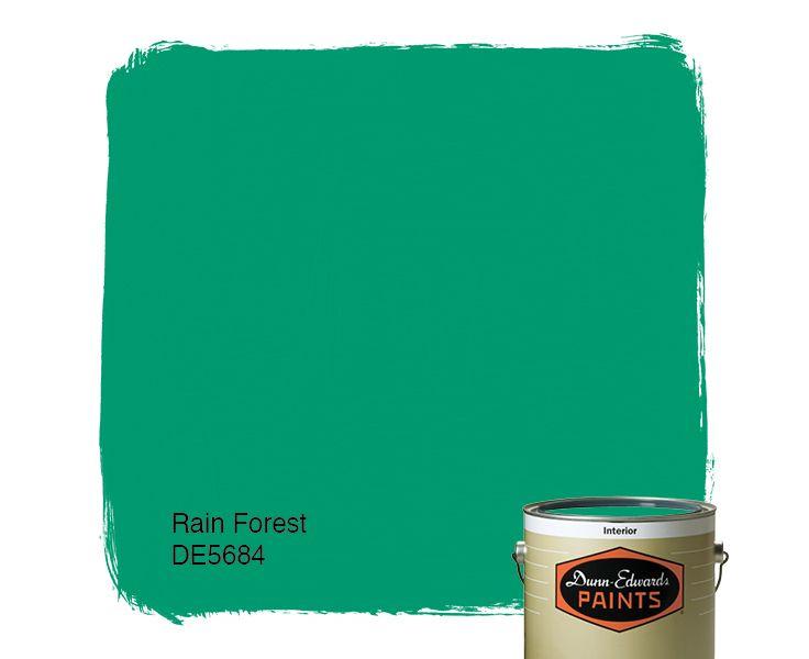 Dunn-Edwards Paints paint color: Rain Forest DE5684 | Click for a free color sample