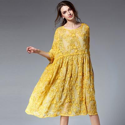 Top Design Two Pieces Set Vintage Lace Dress Female Half ...