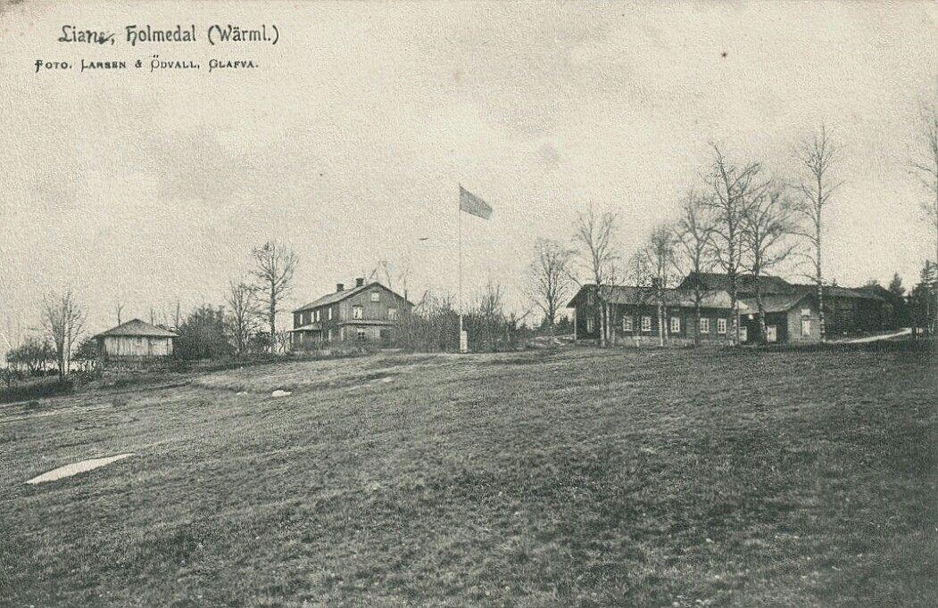Värmland Årjängs kommun Töcksfors Lian Holmedal tidlig 1900-tal utg Larsen och Ödvall, Glava