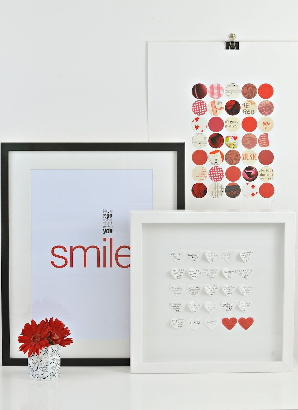 Paper wishes framed guestbook alternative heres how it works we paper wishes framed guestbook alternative heres how it works we send you a paper wishes gift box with a book of paper hearts pen coloured heart for negle Choice Image
