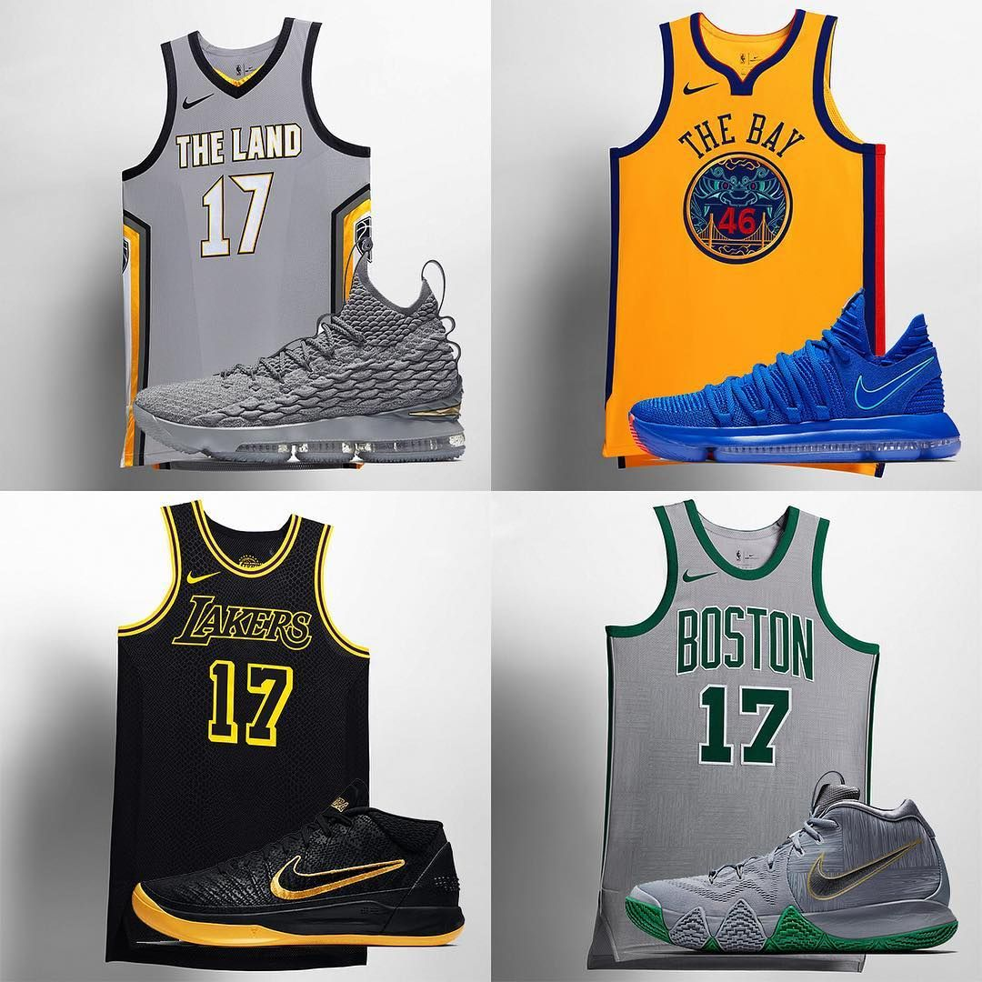 Nike s new NBA City Edition jerseys have matching signature shoes. Which  pairing is your favorite  For details on how to get your pair now 5076a940c