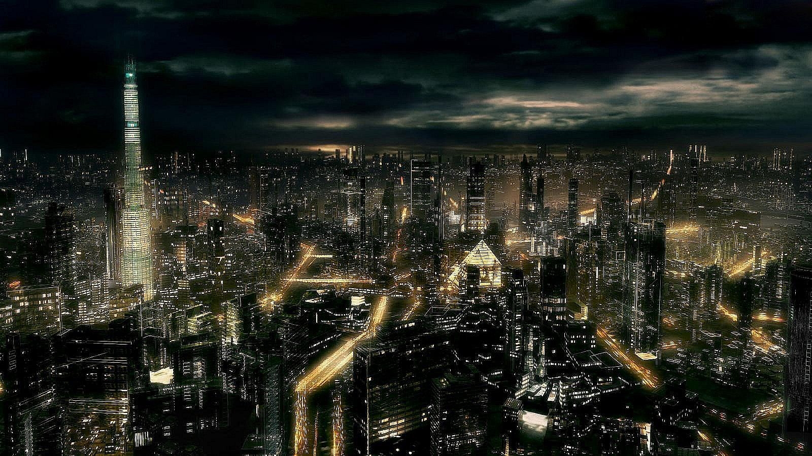 dark city all night hd pictures dark city 3d hd wallpapers