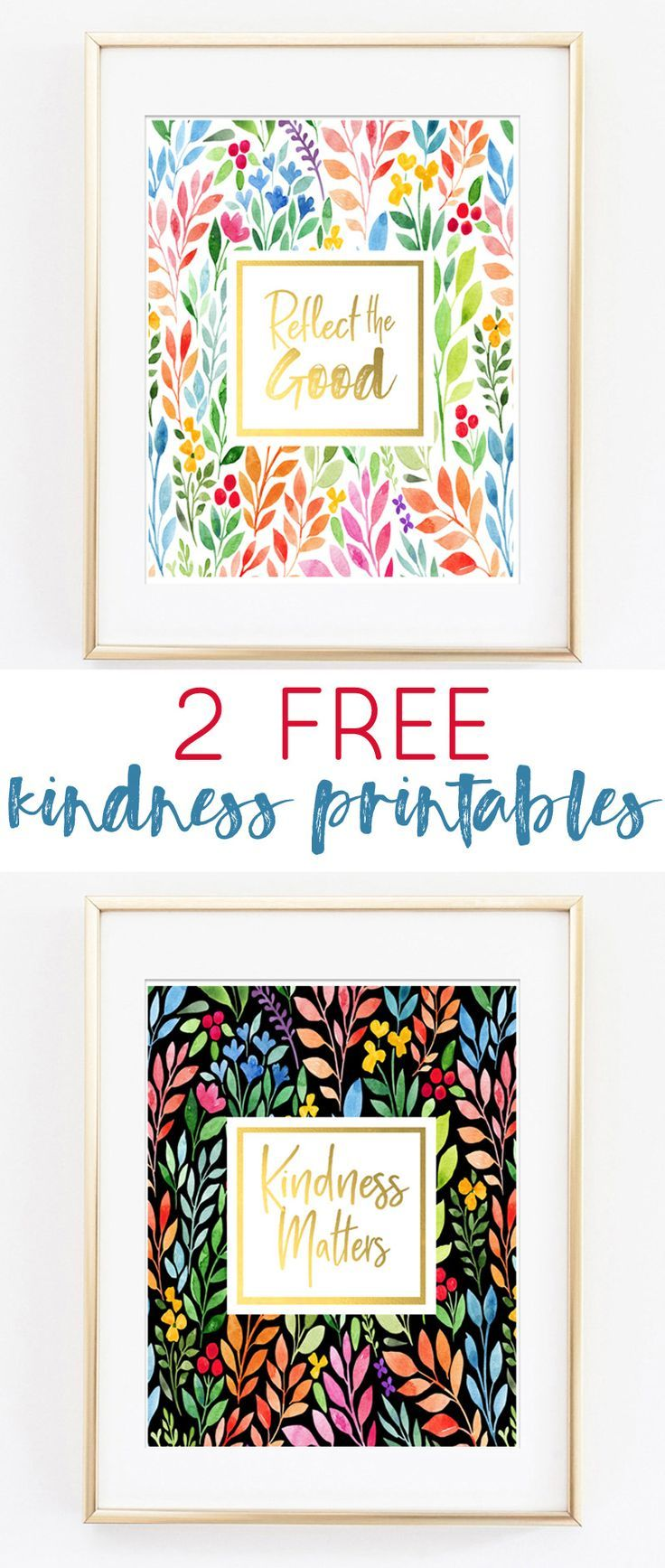 picture relating to Free Printable Wall Art Decor named Kindness Issues Totally free Printable Artwork Hometalk: Do it yourself Free of charge