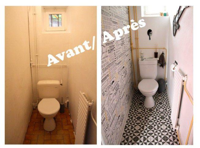 Wc Avant Apres Relooking Wc Deco Toilettes Idee Deco Toilettes