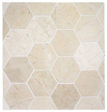 Hexagon Stone Tile Eclectic Bathroom Other Metro Rebekah Zaveloff Kitchenlab