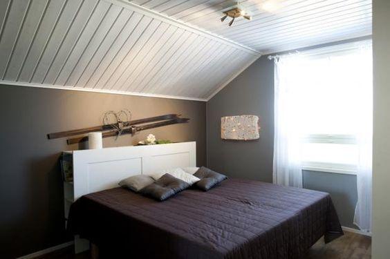 Kiva ja kätevä sängynpääty Talo Honkonen - Makuuhuone | Asuntomessut