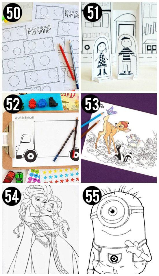 101 free printables for kids free printables play food and 100 free