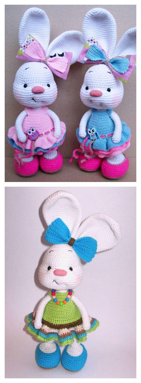Free Amigurumi Bunny Crochet Patterns | Patrones amigurumi, Tejido y ...