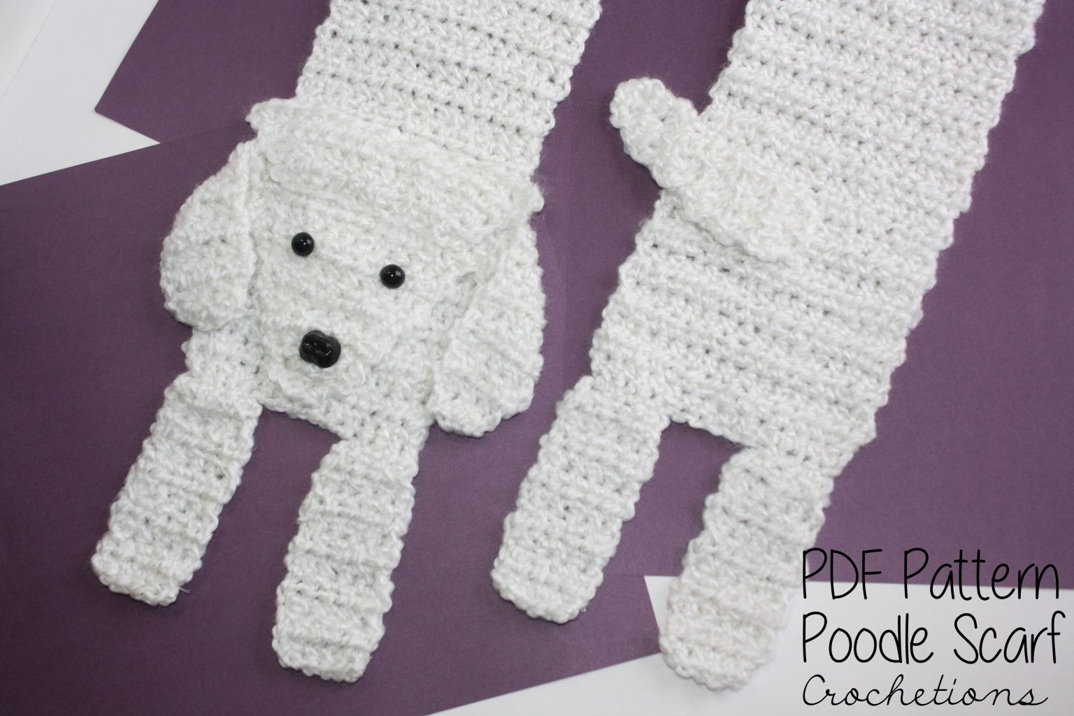 Love your poodle? Make your own with this Poodle Scarf Crochet ...