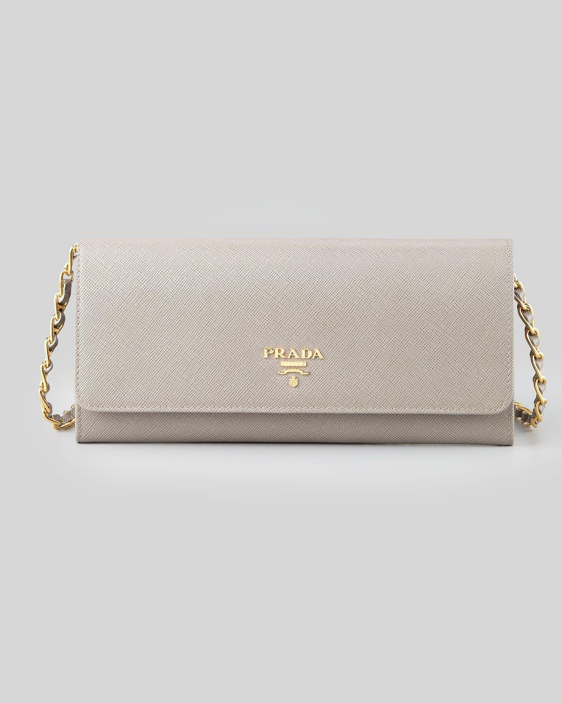 a1c9766865e5f0 Prada Saffiano Wallet on a Chain | Fabulous Wallets | Prada wallet ...