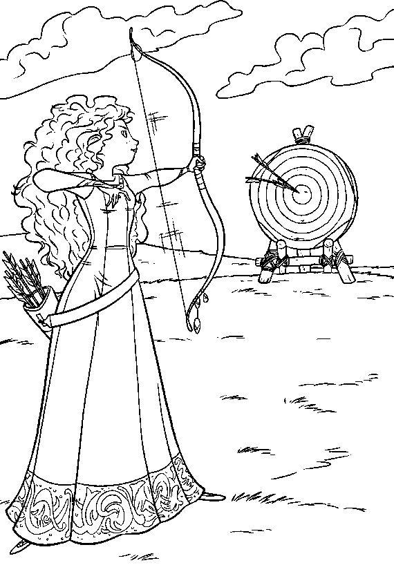 Disney Princess Brave Coloring Pages Taken