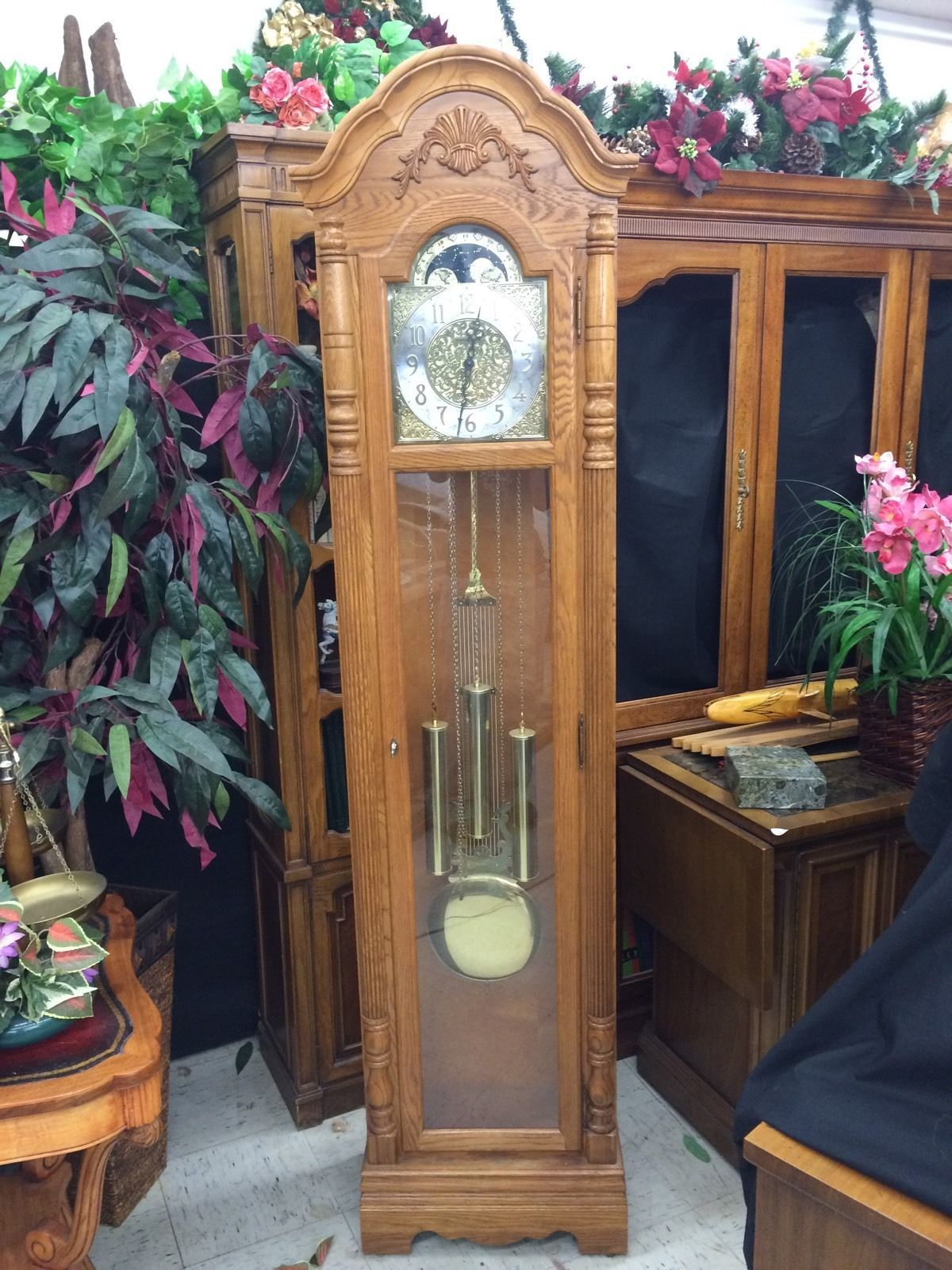 Beautiful Howard Miller Joseph Grandfather Clock 610-892 with Key by heartlandglobalshoppingnetwork
