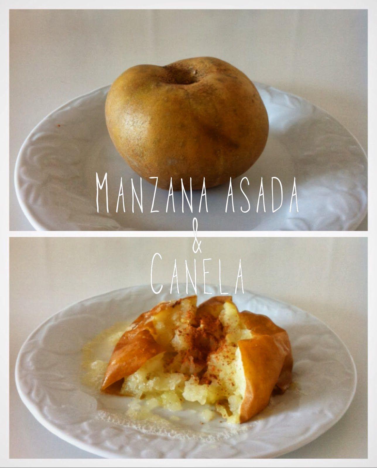 Manzanas asadas al microondas receta