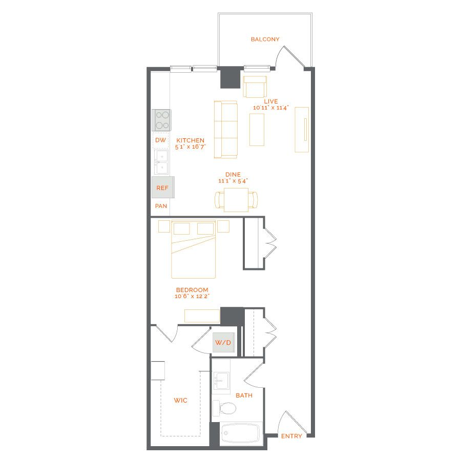 Nacarat 1 Bed Bath 837 Sq Ft Starting At 2 575 Mo 2 Bedroom Apartment Apartment Luxurious Bedrooms