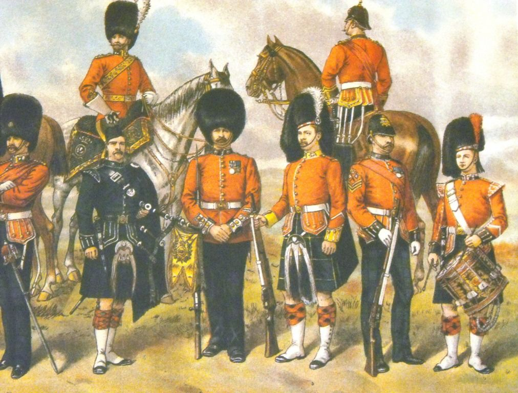 Highland soldiers of the Queen