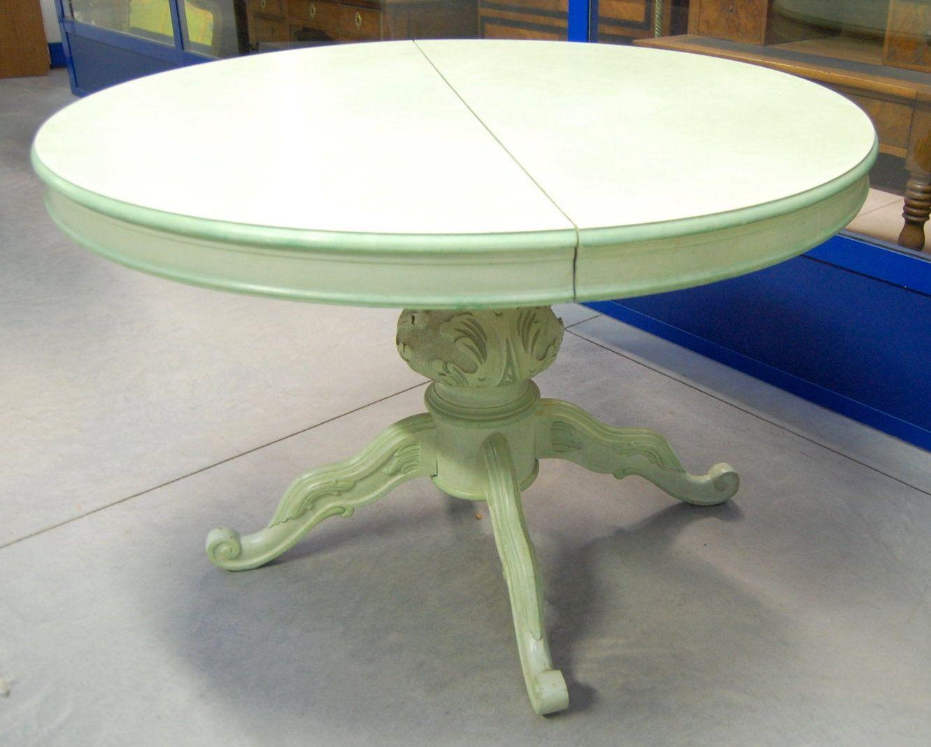 Tavolo rotondo provenzale allungabile diametro 118 cm su ...