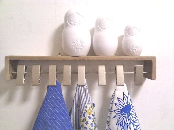 Scarf Holder Wall Mounted Wooden Shelf by Ayliss on Etsy, $45.00