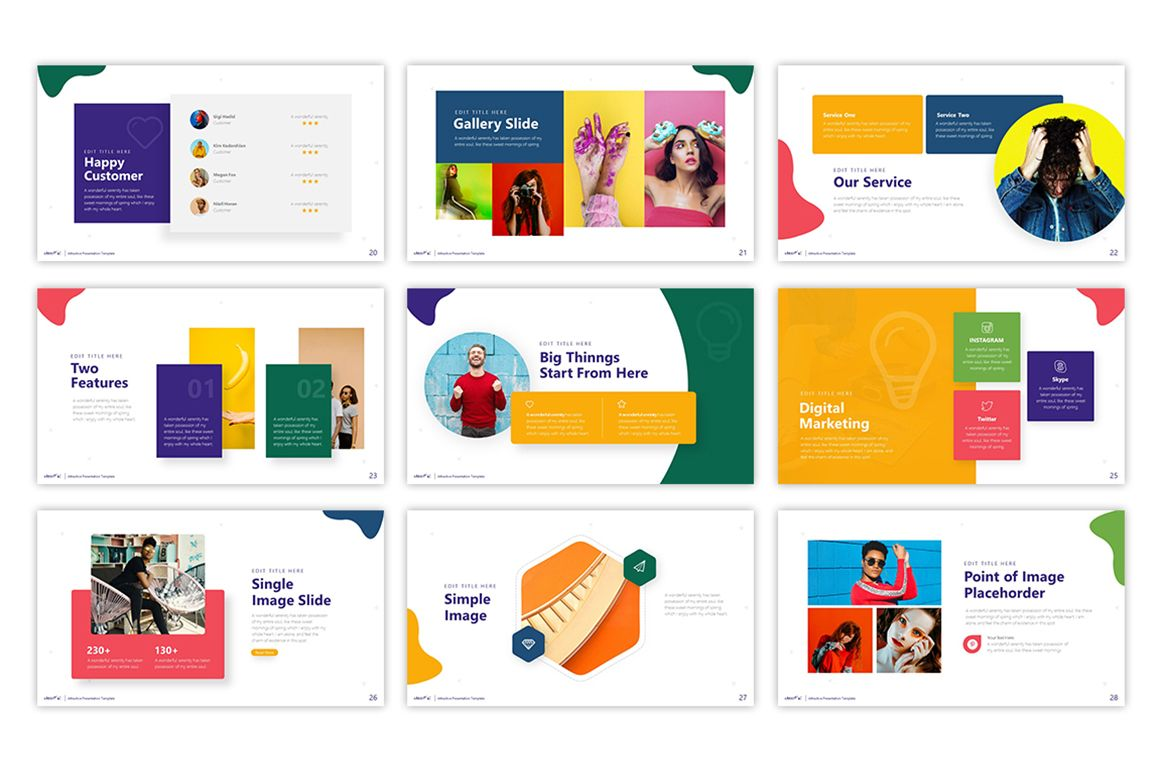 Cheerful Attractive Powerpoint Template 75495 Templates