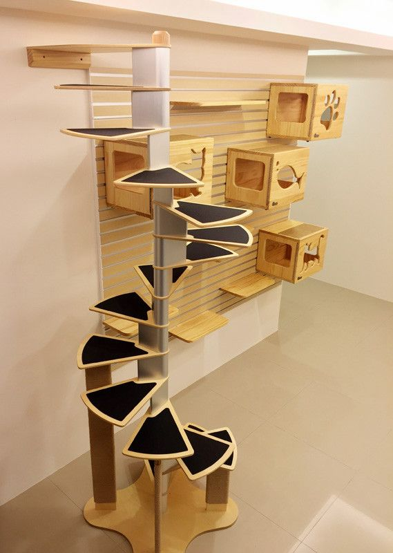 catswall modular cat spiral staircase cat stuff diy cat tree cats cat enclosure. Black Bedroom Furniture Sets. Home Design Ideas