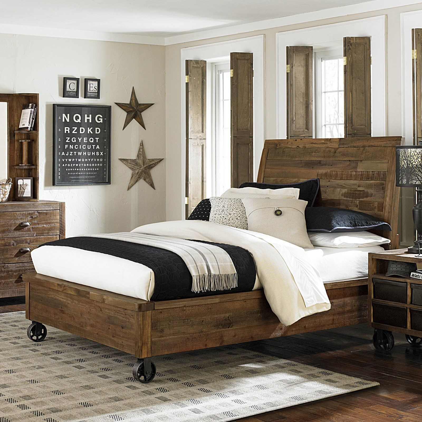 have to have it. braxton island panel bed with casters