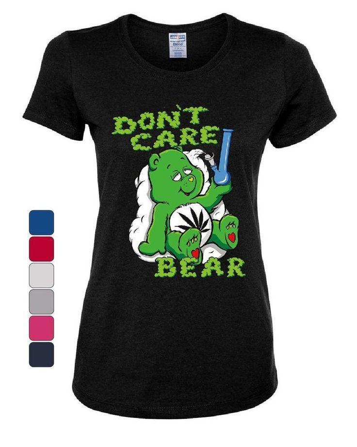Don/'t Care Bear Bong Hoodie Get High Marijuana Smoking Weed 420 Sweatshirt