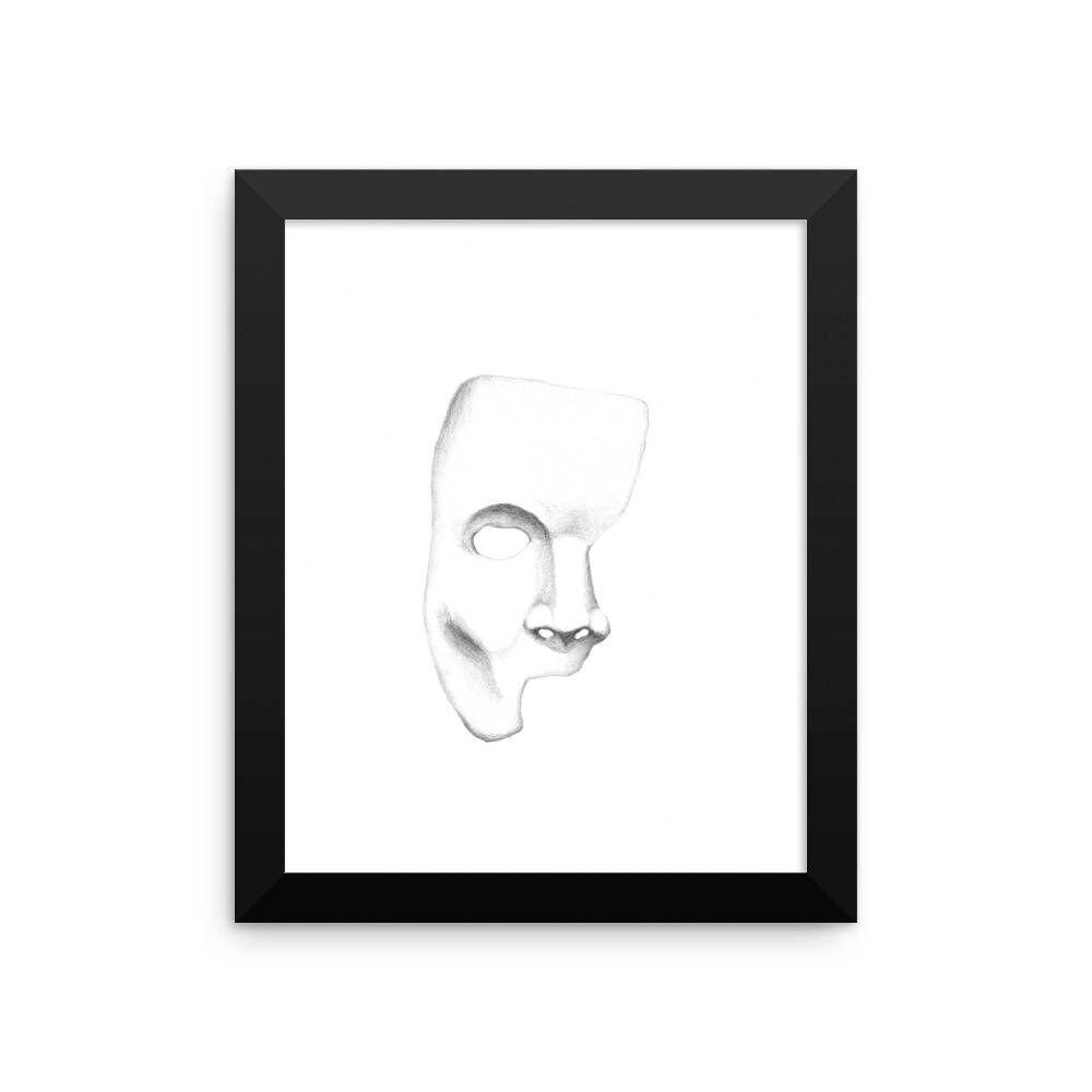 Phantom framed minimalist modern poster phantom of the