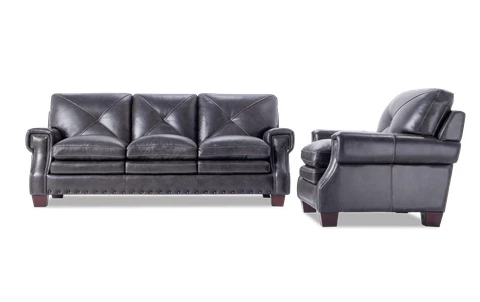 Kennedy Brown Leather Sofa Chair In 2020 Grey Leather Sofa