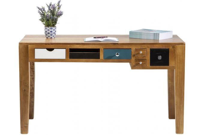 Bureau style industrie en bois multicolore pauline bureaus