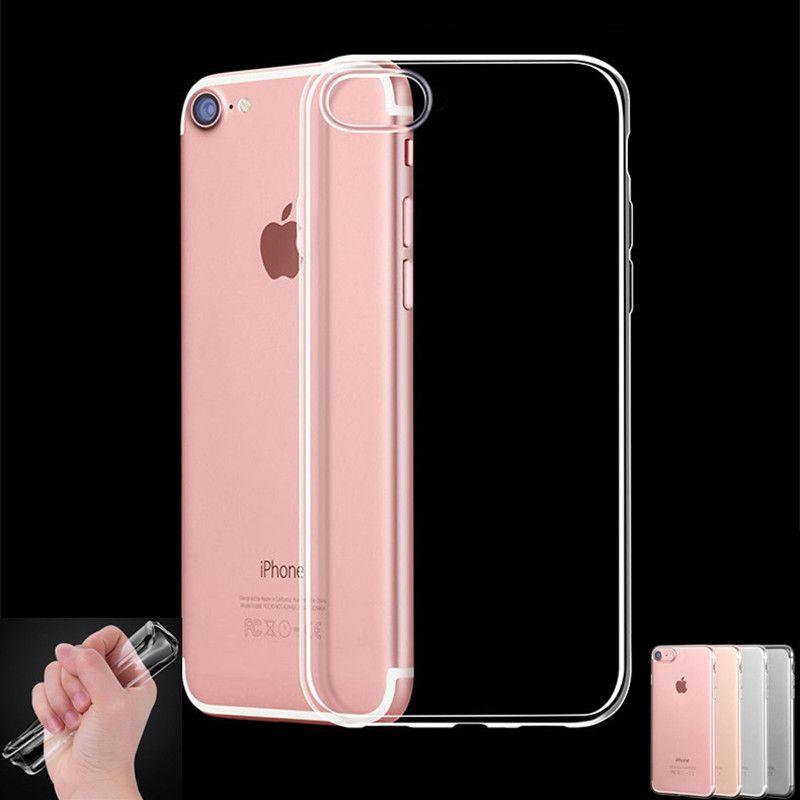 New Tpu Silicone Transparente Capa Case Para Iphone 7 4 7 Coque Polegadas Transparente Macio Saco Do Telefone Casos Par Iphone Iphone Cases Silicone Phone Case