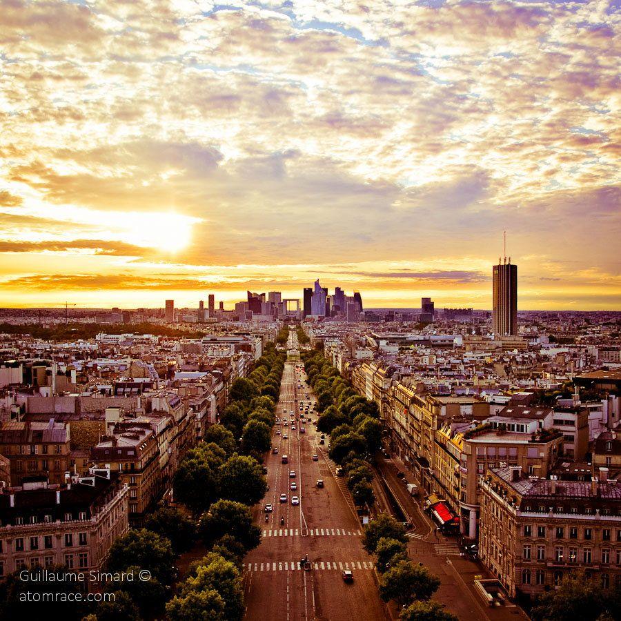 Paris - Avenue de la Grande Armée et la Défense / Arc de triomphe by Atomrace .com, via 500px