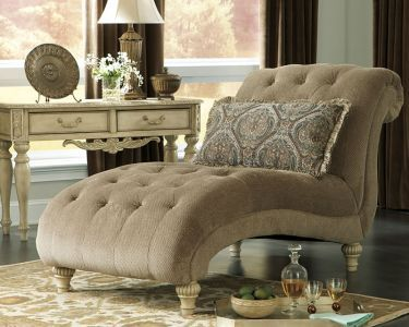 Traditional Chaise | Armless Chaise with Cushion