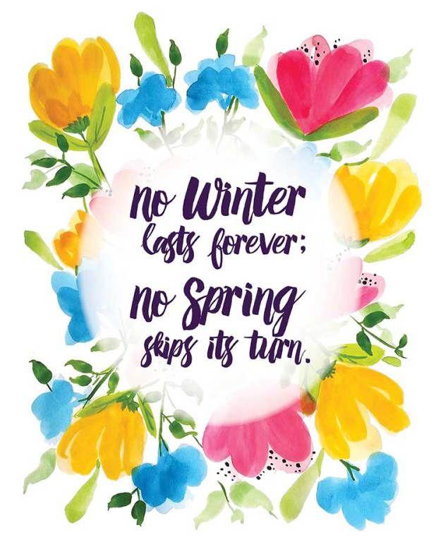 Free Printable - No Winter Lasts Forever | Paletas de colores ...