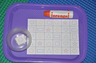 Shape Stamping---could be used for ABCs, 123s, etc.