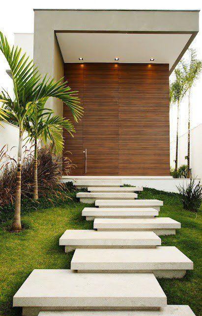 Amenagement Paysager Moderne 100 Idees De Design Jardin Paysager Entree De Maison Exterieur Amenagement Jardin Escalier De Jardin