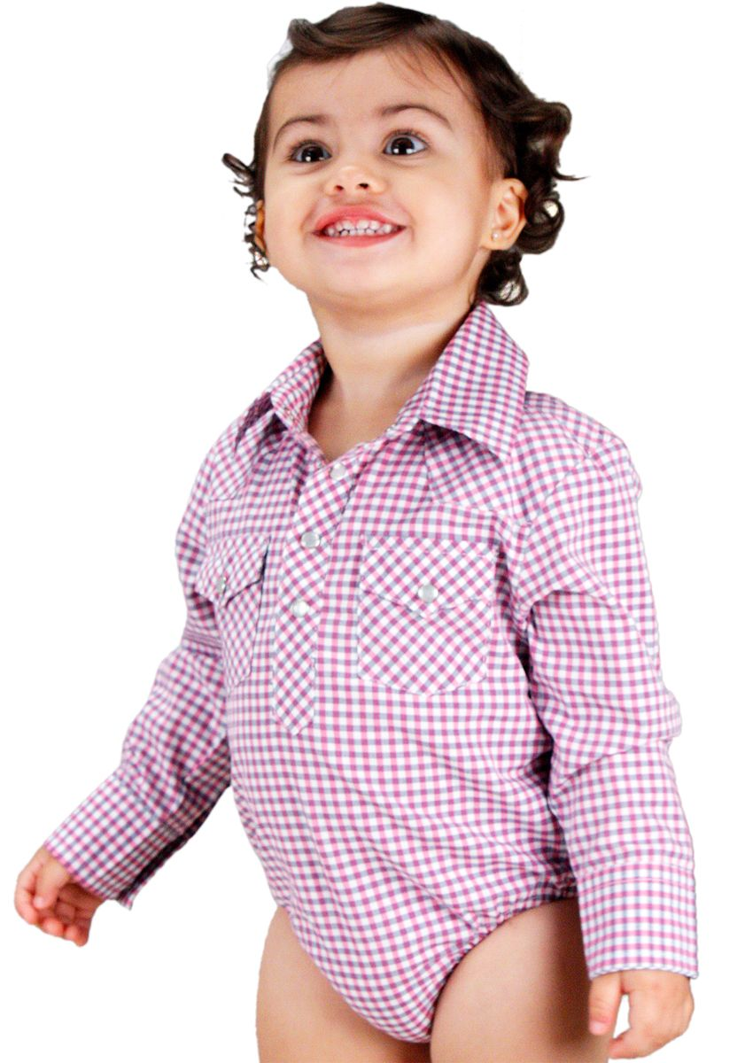 95aee730be Body Infantil Xadrez com Manga Longa Resistol Body estilo camisa country  infantil feminino Xadrez nas cores