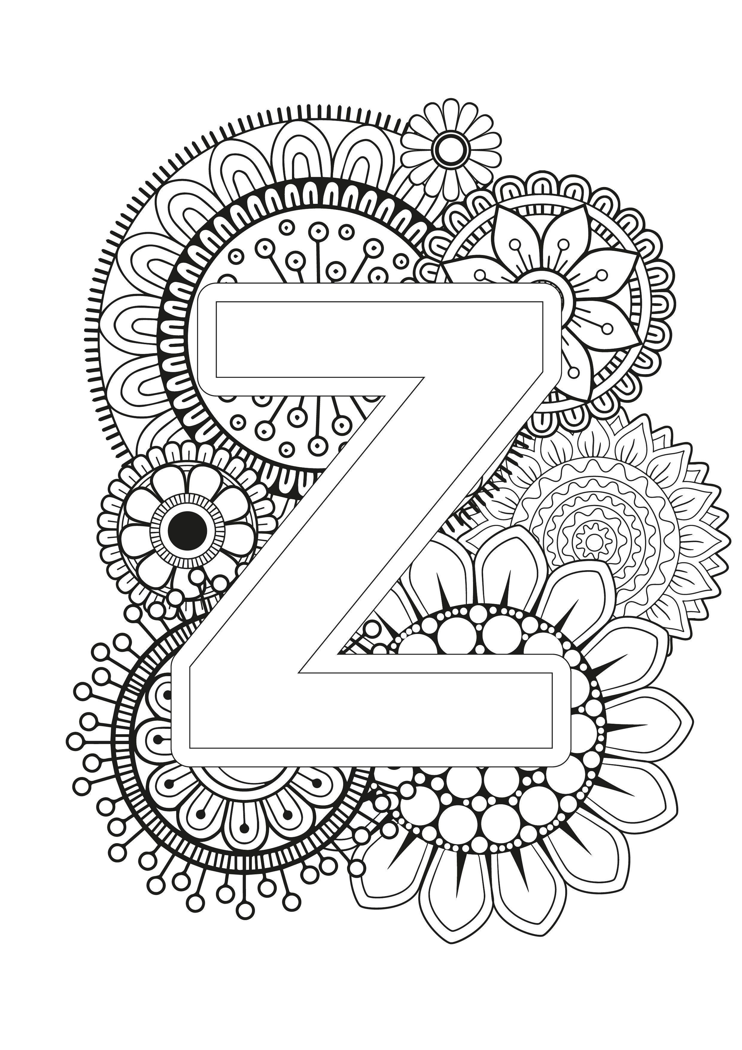 Mindfulness Coloring Page Alphabet Alphabet Coloring Pages Designs Coloring Books Coloring Pages