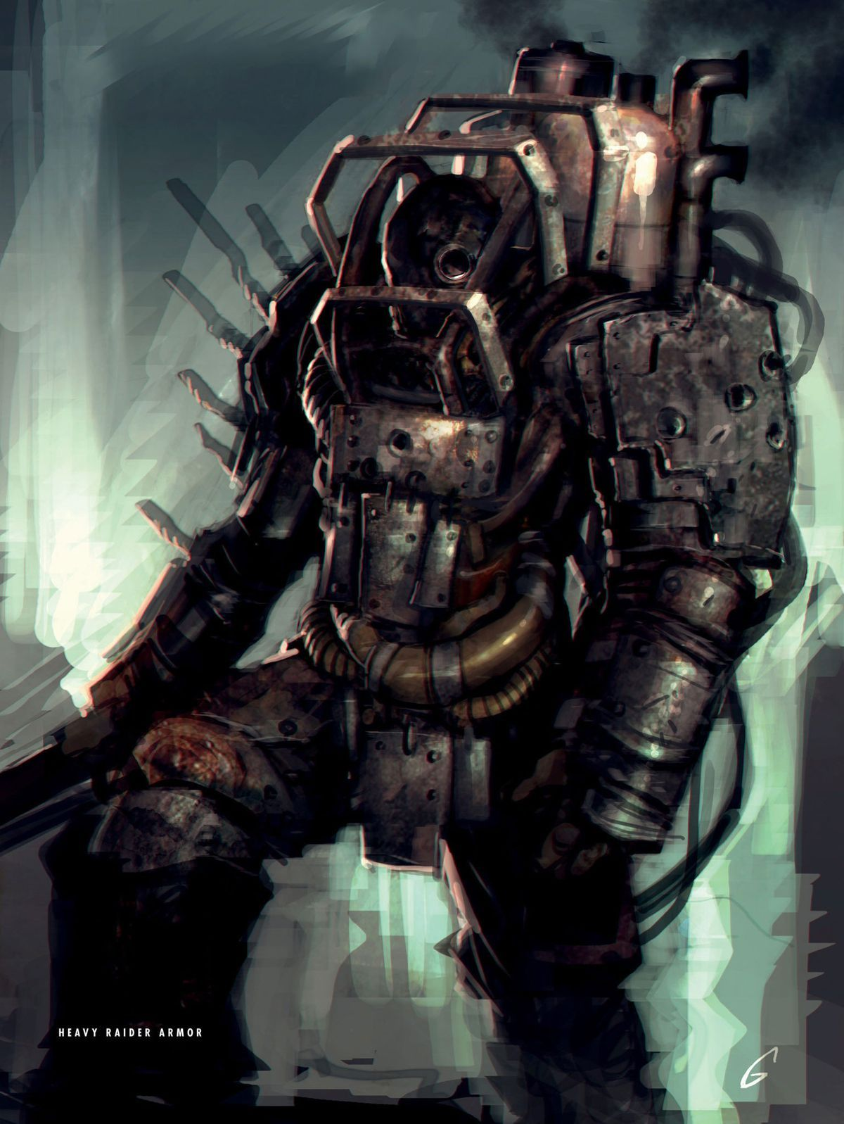 Fallout 4 Heavy Raider Armor Fallout Raider Fallout Concept Art Fallout Art